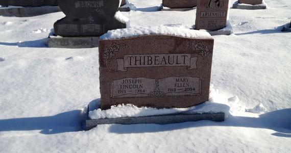 Gravesite of Mary Thibeault.