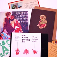 Greeting cards at the holidays