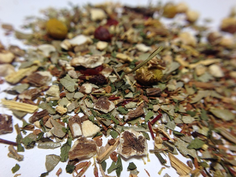 Herbs for days in the Hair of the Dog tea