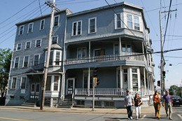 History Hater: Dexel says this unprotected historic building has been unprotected too long. photo Julé Malet-Veale
