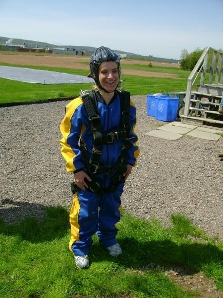Holly after she had gone skydiving.