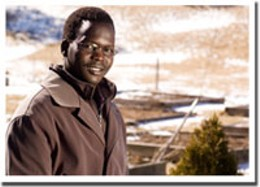 """Hope goats Jacob Deng is helping provide """"the necessities of life.""""photo Rob Fournier"""