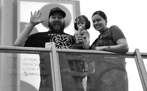 Damien, Lauren and Holden @ Yonge and Dundas Square
