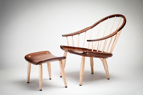 J-Class Lounge Chair and Footstool - MARVIN MOORE