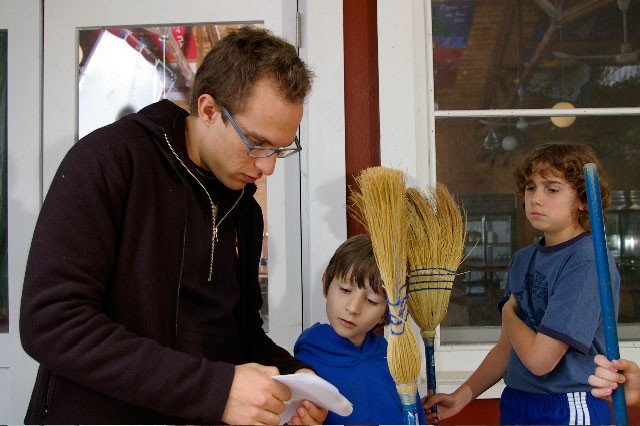 Jacob Medjuck working with his young actors on Summerhood.