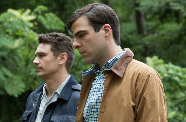 James Franco (as Michael Glatze) and Zachary Quinto (Benjie Nycum) play gay (or not) Halifax editors in I Am Michael.