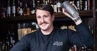 Jeffrey Van Horne is a blast from the past, mixing treats for your palate.