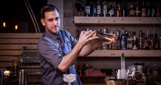 Jenner Cormier shakes up local cocktail culture. - RILEY SMITH
