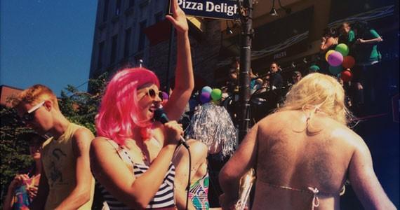 Jenocide rocks The Coast's 2012 Pride parade float.