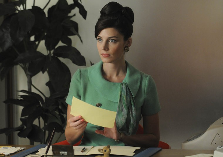 Jessica Paré as Megan on Mad Men