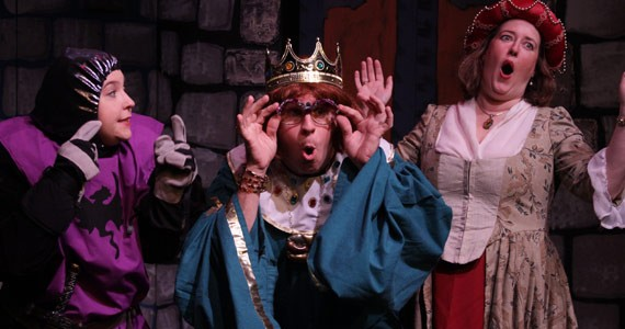 Kelly Doney Morrison as one of the Evil Twins, Brad Morrison as Valerin the Vicious and Jolene Pattison as Queen Mavis