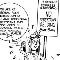 Ken Reashor: safer to jaywalk than to use a crosswalk