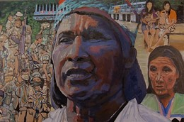 Kimy Pernía Domicó, 2009. He spoke out about the damming of the Sinú Rivier, critical to the lives of his people. He was abducted and killed in 2001.