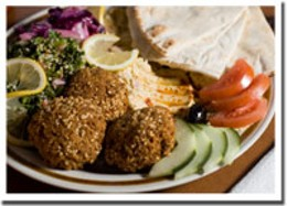 King of the Nile Falafel's a hit for lunch or dinner at the Pyramid Cafe.photo Rob Fournier