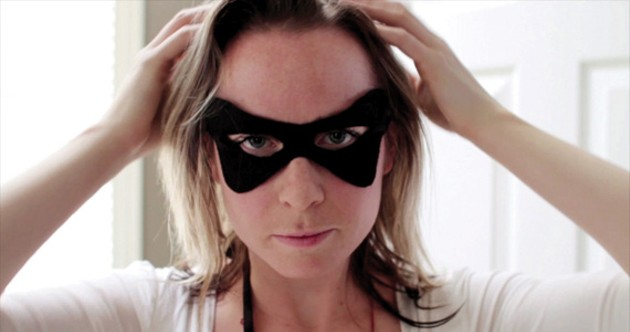 Laura Burke in her film Superhero.
