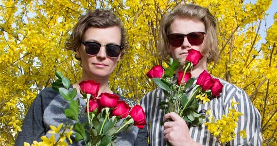 Leigh Dotey and Aaron Mangle: Cousins' flower power. - ALYSON HARDWICK