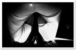 Light levels OneLight Theatre's avant-garde set for their production of The Veil.	photo Jamie Smith