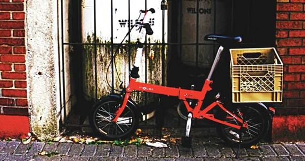 Little red bike, all alone