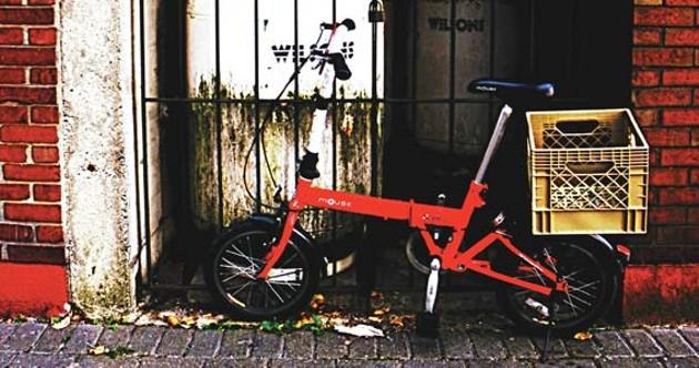 Little red bike, all alone