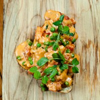 Lobster and Sweet Pea Bruschetta