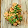 Lobster and Sweet Pea Bruschetta