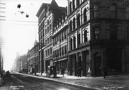 Looking south on Barrington Street from Prince Street (1900).