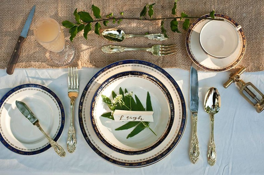 Make Merry Events (responsible for this table setting) is among the Indie Wedding vendors