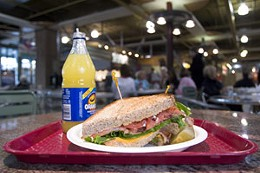 Mall menu Dodge fast food and try real food like the BLT at Pete's Frootique in Bedford. photo Jule Malet-Veale.