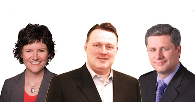 Megan Leslie, Mike Savage and Stephen Harper