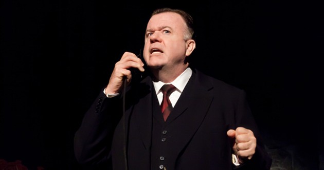 Michael Hanrahan as Mackenzie King in REXY!, on until March 22 at Neptune. - TIMOTHY RICHARD