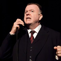 Michael Hanrahan as Mackenzie King in REXY!, on until March 22 at Neptune.