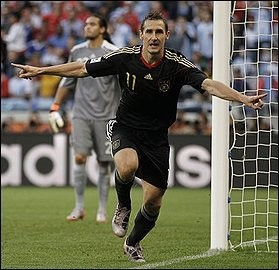 Miroslav Klose and the Germans are the talk of the tournament