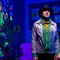 Mitchell Wiebe and his fluorescing creations.