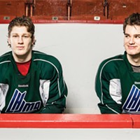 Mooseheads staff worked miracles to get stars Nathan MacKinnon (left) and Jonathan Drouin into Halifax uniforms.