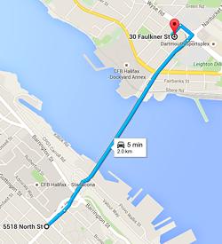 New bridge shuttle route (for the old bridge)