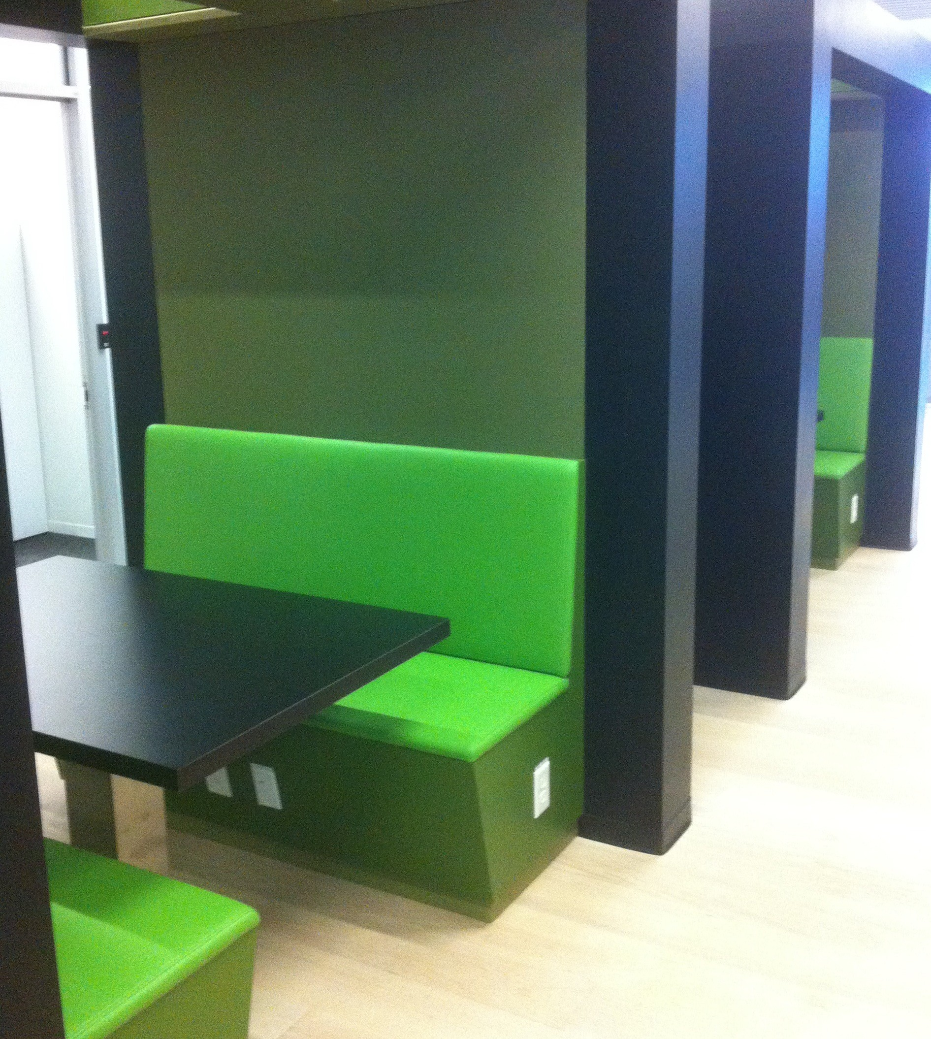 New study pods provide comfort and privacy.