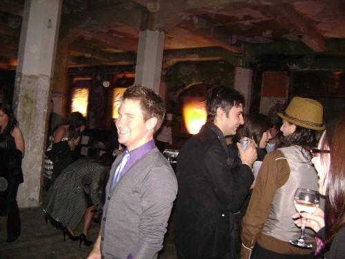 Nominees Graeme Patterson and Marcel Dzama (right), plus added bonus: guy smiley