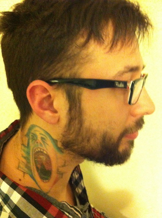 Nursing student  Jeremy Wheeler was told to cover up his neck tattoo before taking a clinical placement at a nursing home.