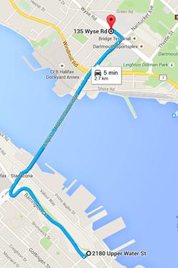 Old bridge shuttle route