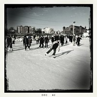 On the Canada Games oval the day before New Year's Eve.