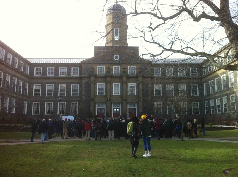 Over 200 protesters marched to Dalhousie's Henry Hicks building on December 19 wanting the dentistry students responsible for hateful, sexist Facebook posts expelled.
