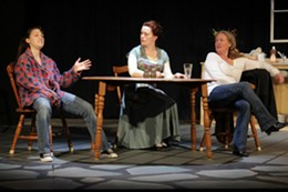 IAN MACD - Paige Smith, Katherine Tufts and Leslie Milne at Dartmouth Players.