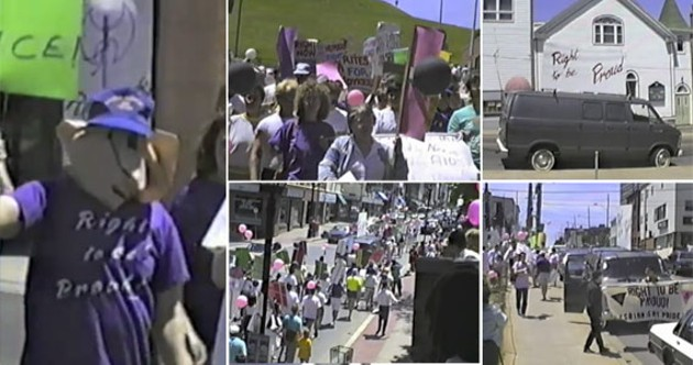 Photos taken from a YouTube video of the 1989 Halifax Pride parade. - ANNE BISHOP | JAN MORRELL