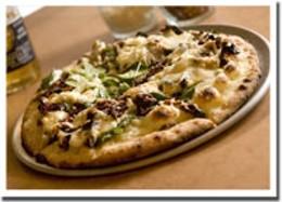 Pizza paradise The Aegean pizza is a slice of crispy, cheesy deliciousness.photo Rob Fournier