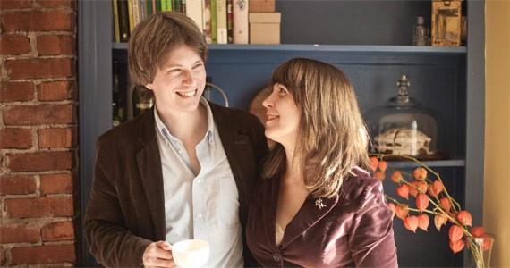 Poet Warren Heiti and novelist Heather Jessup in their home/writing haven. - MEGHAN TANSEY WHITTON