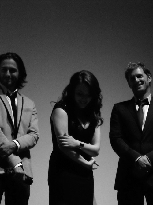 Reece Thompson, Kat Dennings, Josh Lucas at the Ryerson Theatre on Friday (TT)