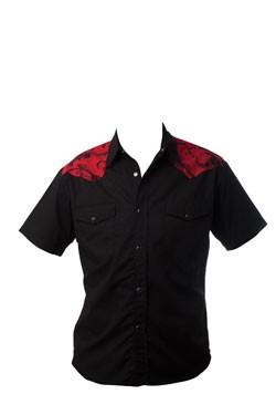 Rock Steady shirt, $59.99, Fashionably Dead.