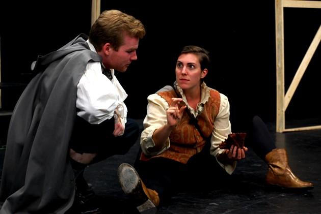 Rosencrantz (Ira Henderson) and Guildenstern (Katie Dorian) are dead funny