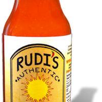 Rudi's Authentic Hot Sauce is fired up
