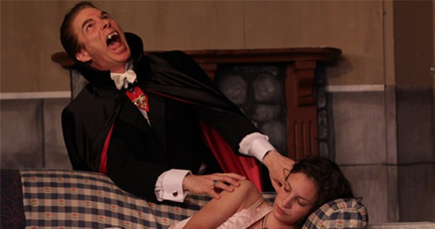 Russell Storer kills it as Count Dracula.